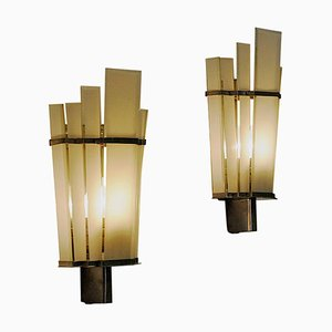 Art Deco Wall Sconces from Zenith, Germany, 1940s, Set of 2