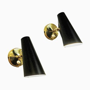 Adjustable Birdie Wall Sconces by Birger Dahl for Sonnico, Norway, 1952, Set of 2