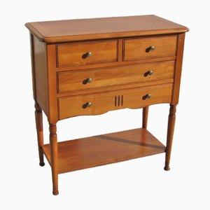 Mesa consola pequeña de madera de cerezo, años 80