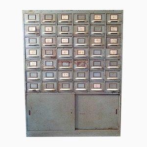 Industrieller Karteikasten aus Metall, Tschechoslowakei, 1960er