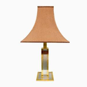 Mid-Century Italian Brass and Chrome Metal Table Lamp, 1970s