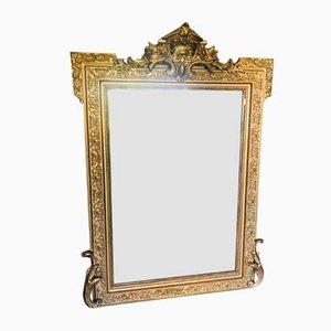 Vintage Rococo Style Gold Mirror