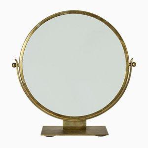 Brass Table Mirror by Ivar Ålenius Björk for Ystad-Metall, 1930s