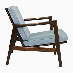 Light Blue Lounge Chairs by Stefan Swarzedzkie for Gościcińskie Fabryki Mebli, 1960s, Set of 2