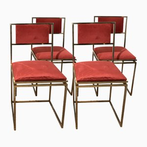 Dining Chairs from Maison Jansen, 1970s, Set of 4
