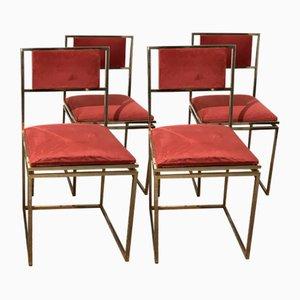Esszimmerstühle von Maison Jansen, 1970er, 4er Set