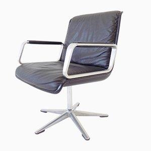 Leder Modell Delta 2000 Sessel von Delta Design für Wilkhahn, 1960er, 2er Set