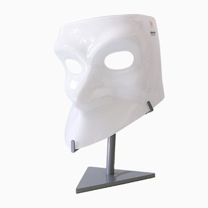 Italian Sculptural Murano Glass Mask Table Lamp from AVMazzega, 1990s