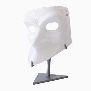 Skulpturale italienische Murano Glasmaske Tischlampe von AVMazzega, 1990er