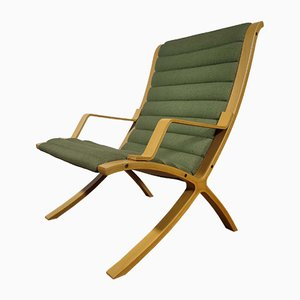 Mid-Century Danish Lounge Chairs by Peter Hvidt & Orla Mølgaard-Nielsen for Fritz Hansen, 1980s, Set of 2