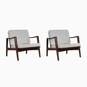 Lounge Chairs by Arne Wahl Iversen for Komfort, 1950s, Set of 2
