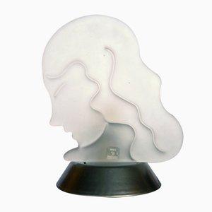Murano Glas Modell Virgin Zodiac Tischlampe von Carlo Nason für Itre, 1980er