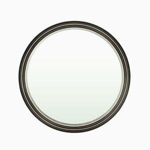 Round Cast Aluminum Mirror by Lorenzo Burchiellaro for Burchiellaro, 1970s