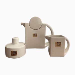 Postmodern Italian Ceramic Coffee Set from Sele Arte, 1980s