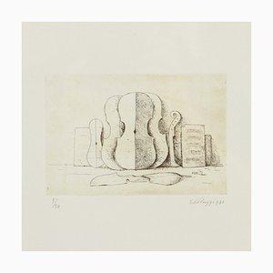 Acuarela Cavalli de Giorgio Mariani, años 80