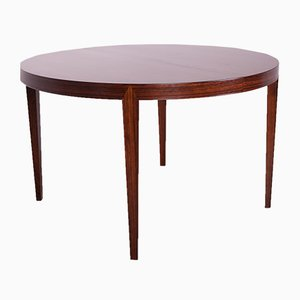 Mid-Century Round Rosewood Dining Table by Severin Hansen for Haslev Møbelsnedkeri, 1960s