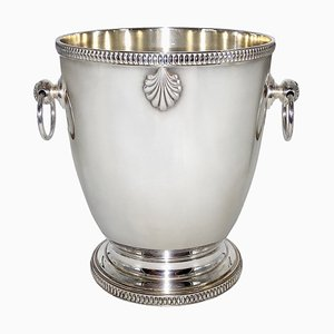French Art Deco Silver-Plated Champagne Bucket or Wine Cooler, 1930s