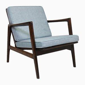 Light Blue Lounge Chair by Stefan De Swarzedzkie for Gościcińskie Fabryki Mebli, 1960s
