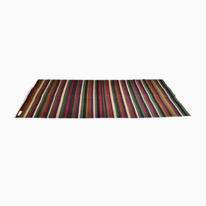 Vintage Minimalistic Turkish Striped Woolen Carpet, 1980s