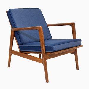Blue Lounge Chair by Stefan Swarzedzkie for Gościcińskie Fabryki Mebli, 1960s