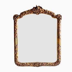 Goldener Vintage Spiegel, 1950er