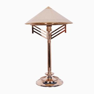 Art Deco Brass Table Lamp, 1940s