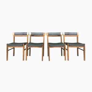 Mid-Century Danish Rosewood Dining Chairs by Anders Jensen, Set of 4
