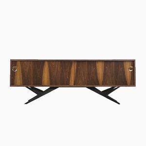 Mid-Century Modern Norwegian Walnut Sideboard, 1960s