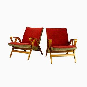 Mid-Century Armchairs from Tatra, 1960s, Set of 2