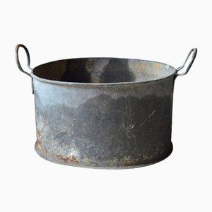 Grand Cache-Pot Vintage en Zinc, France, 1940s