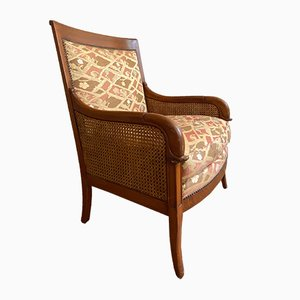 Restoration Period Cane Armchairs, Set of 2