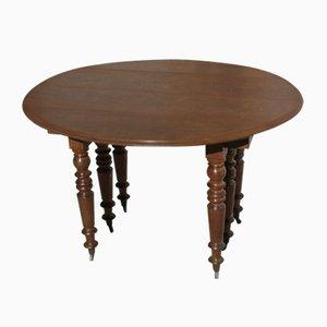 Antique Extendable Oak Dining Table, 1900s