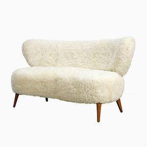 Vintage Sheepskin Sofa by Otto Schulz for Boet, 1940s