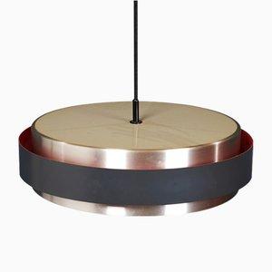 Lampe à Suspension Sera Mid-Century en Aluminium par Johannes Hammerborg pour Fog & Mørup, 1960s