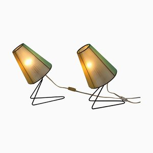 Mid-Century Table or Bedside Lamps, 1960s, Set of 2