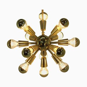 Mid-Century Brass Sputnik Pendant Lamp, 1970s