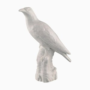 19th Century Blanc De Chine Bird Figurine from KPM Berlin