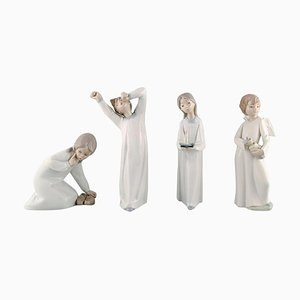 Vintage Spanish Porcelain Children Figurines from Lladro & Nao, 1980s, Set of 4