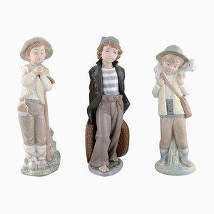 Spanische Vintage Jugendstil Porzellanfiguren von Lladro, Nao & Zaphir, 1980er, 3er Set
