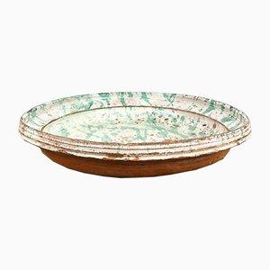 19th Century Spanish Glazed Terracotta Plate