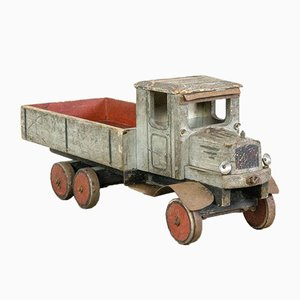 Vintage Wooden Pickup Toy Truck