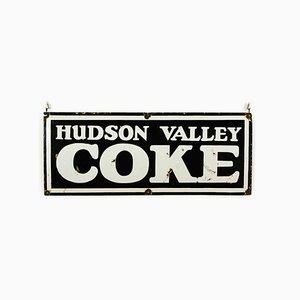 Cartel vintage de coñac Hudson Valley esmaltado