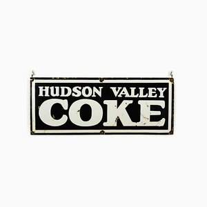 Vintage Enamel Hudson Valley Coke Sign