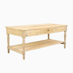 Vintage Rustic Sandblasted Kitchen Prep Table