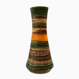 Jarrón Mid-Century de cerámica de Aldo Londi para Bitossi, 1970