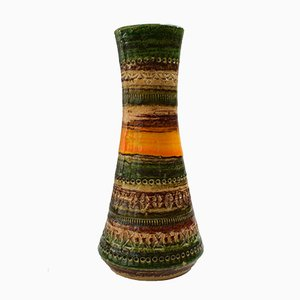 Vaso Mid-Century in ceramica di Aldo Londi per Bitossi, anni '70