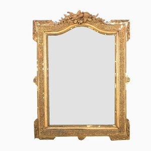 Miroir Antique Napoleon III Doré, France