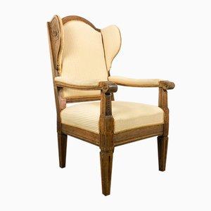 Antiker Französischer Ludwig XVI Armlehnstuhl, 1800er