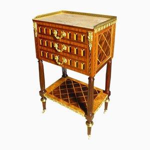 Mesa de centro antigua de marquetería de palisandro