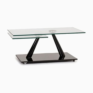 Glass and Black Extendable Function Coffee Table from Naos